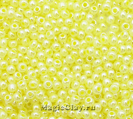 Бисер чешский 10/0 Алебастр, 37182 Pearl Light Yellow, 41гр