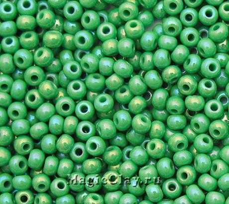 Бисер чешский 10/0 Непрозрачный, 54210 Light Green, 41гр