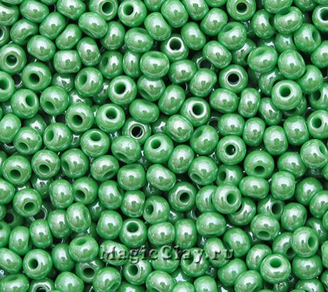 Бисер чешский 10/0 Непрозрачный, 58210 Light Green, 41гр