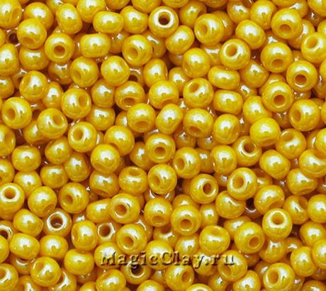 Бисер чешский 10/0 Непрозрачный, 88111 Yellow, 41гр