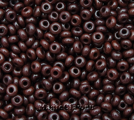 Бисер чешский 10/0 Непрозрачный, 93300 Brown, 41гр