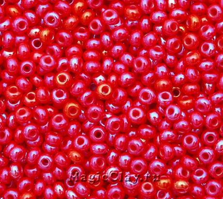 Бисер чешский 10/0 Непрозрачный, 94170 Red, 41гр