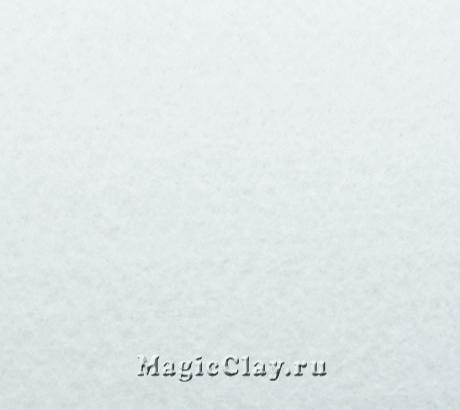 Фетр для рукоделия жесткий 20*30см, цвет Белый Холодный