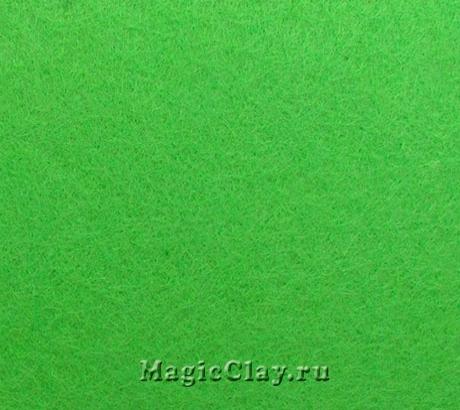 Фетр для рукоделия жесткий 20*30см, цвет Зеленый Светлый
