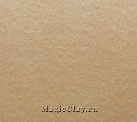Фетр для рукоделия жесткий 20*30см, цвет Бежевый