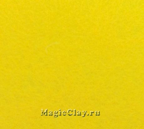 Фетр для рукоделия жесткий 20*30см, цвет Желтый