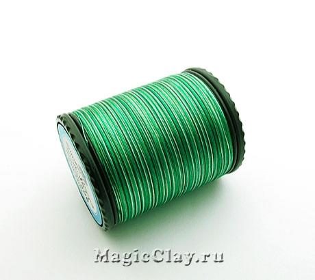 Нить шёлковая Sumiko Меланж, Изысканный Зеленый