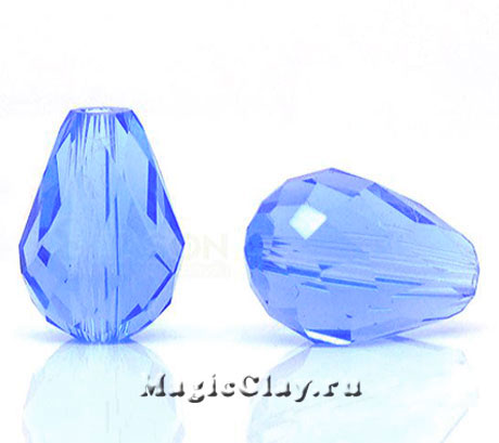 Бусины капля Голубая Капель 15х10мм, 10шт