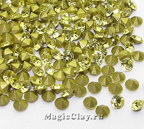 Стразы конусные для бижутерии SS4, цвет Светлый Желтый