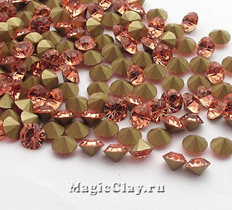 Стразы конусные для бижутерии SS4, цвет Светло-Персиковый