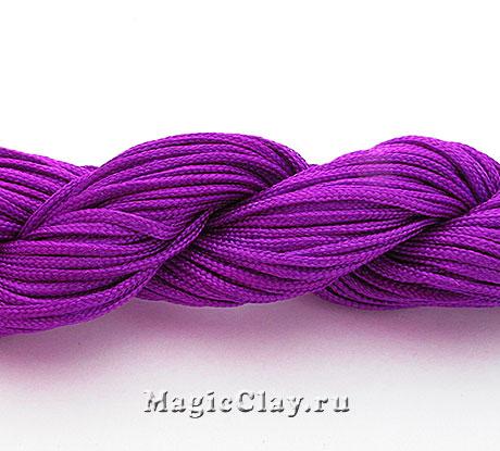 Шнур нейлоновый для Шамбалы 1мм Пурпурный, 1 моток (~26метров)