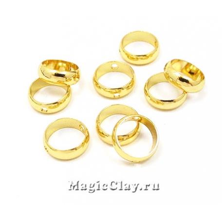 Рамка для бусин Кольцо 8х2,5мм, цвет золото, 10шт