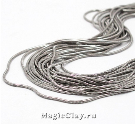 Цепочка Змейка, 1мм, сталь, 1м