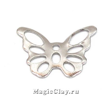 Филигрань Бабочка 14х10мм, сталь, 10шт