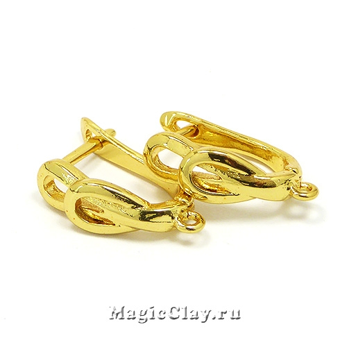 Швензы Плетение 20х14мм, цвет золото, 1пара