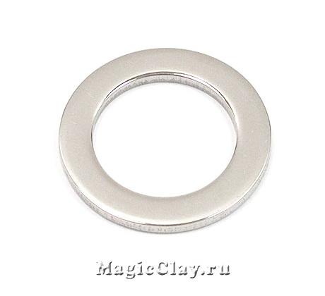 Коннектор Круг Плоский 21х1,5мм, сталь, 1шт