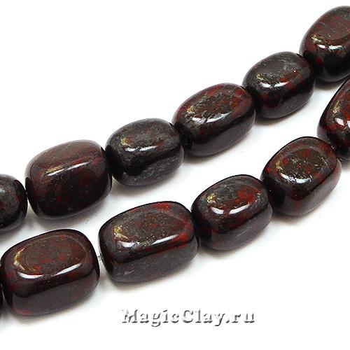 Бусины Яшма брекчиевая, прямоугольник 14~18х10~14мм, 10шт