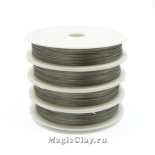 Ювелирный тросик 0,35мм, цвет Стальной