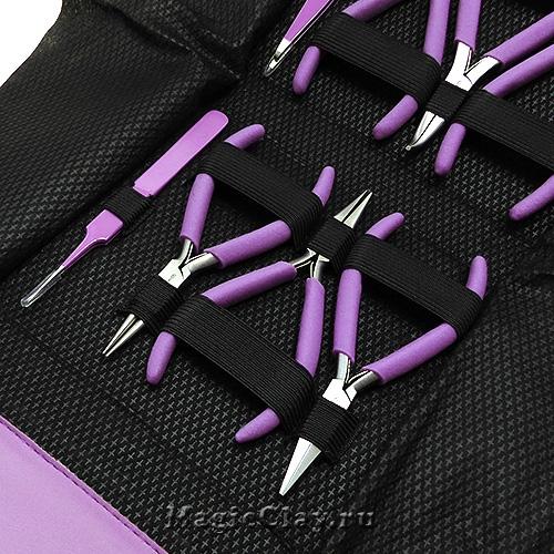 Набор BeadSmith из 8 инструментов для бижутерии, цвет Фиолетовый