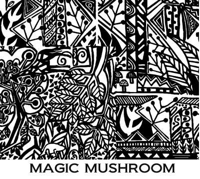 Pixie Art Stamps текстурный лист Magic Mushroom