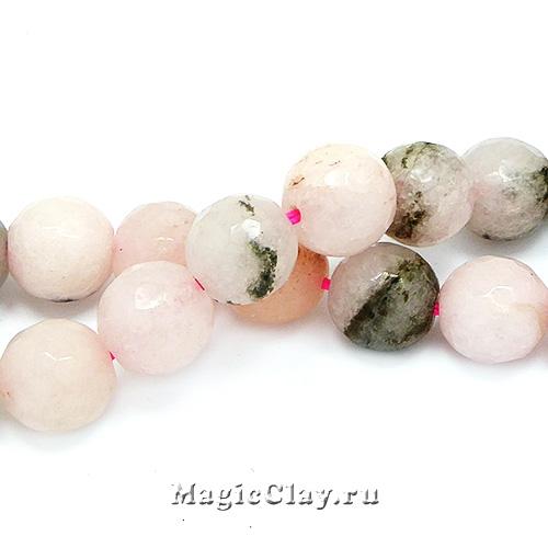 Бусины Яшма вишневая, граненая 10мм, 1нить (~35шт)