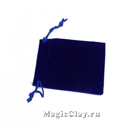 Сумочка подарочная из бархата 9х7см, цвет Синий