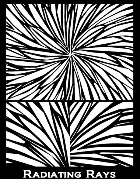 Silk Screen трафарет Radiating Rays