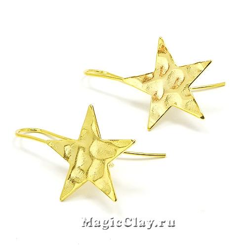 Швензы крючки Звезда 31х20мм, Real Gold, 1пара