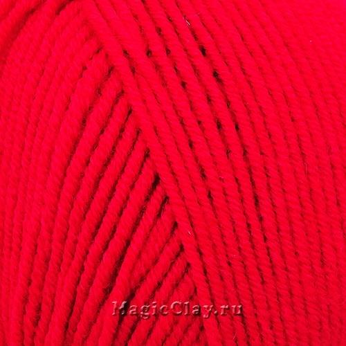 Нить для браслетов 2мм Красный, шерсть 100%, 5 метров