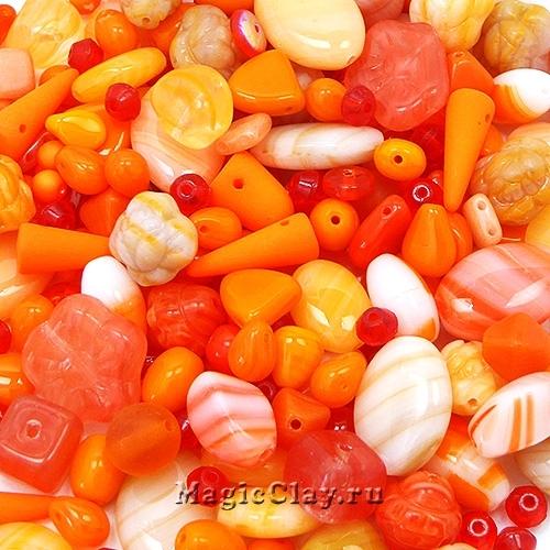 Бусины микс Оранжевое Настроение, 50 гр