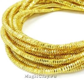Трунцал 4-гранный 3мм Золото, 5 гр (~55см)