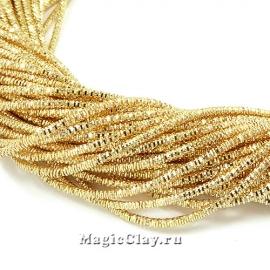 Трунцал 4-гранный 1,5мм Золото, 5 гр (~230см)