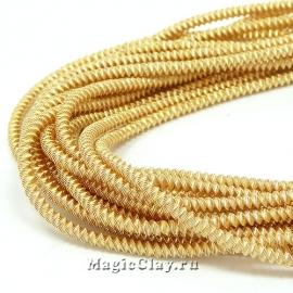 Канитель Фигурная Зиг-заг 2,2мм Золото, 5 гр (~60см)