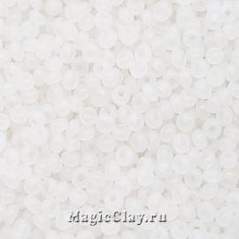 Бисер чешский 10/0 Алебастр, 02090matt White, 50гр