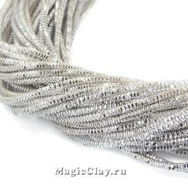 Трунцал 4-гранный 1,5мм Серебро, 5 гр (~230см)