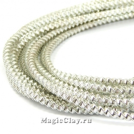 Канитель Фигурная Зиг-заг 2,6мм Серебро, 5 гр (~57см)