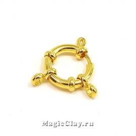 Замок Кольцо Штурвал 14мм, сталь, цвет золото, 1шт
