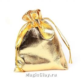 Сумочка подарочная 12х9см, цвет золото