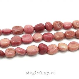 Родонит Розовый нат. галтовка 6~9x5~8мм, 1нить (~48шт)