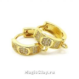 Швензы Кольцо Магия 14х5мм, цвет золото, 1пара