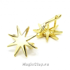 Швензы Звезда 18мм, цвет золото, 1пара