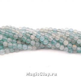 Аквамарин натуральный 4мм, 1нить (~103шт)