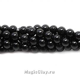 Обсидиан Черный 6мм, 1нить (~62шт)
