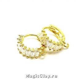 Швензы Кольцо Сияние 14мм, цвет золото, 1пара