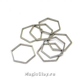 Коннектор Шестигранник 16х18мм, сталь, 10шт
