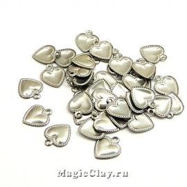 Подвеска Сердечки 9х8мм, сталь, 6гр (~50шт)