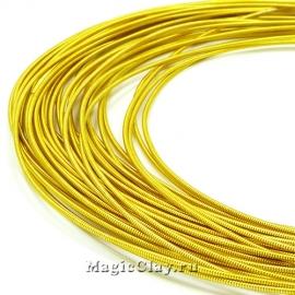 Канитель жесткая 1,1мм Золото, 5 гр (~130см)