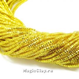 Трунцал 4-гранный 1,7мм Золото Яркое, 5 гр (~120см)