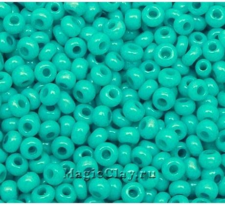 Бисер чешский 10/0 Пастельные тона, 16158 Turquoise, 50гр