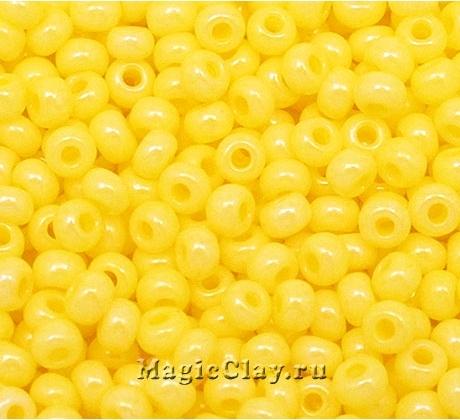 Бисер чешский 10/0 Пастельные тона, 16386 Yellow, 50гр